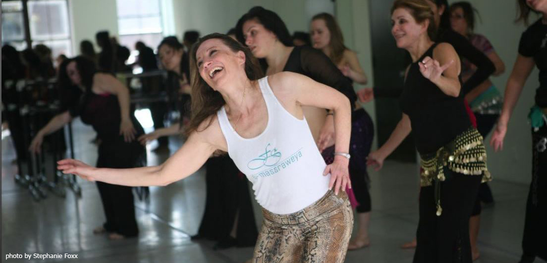 Egyptian Instructor Faten teaching folkloric and oriental bellydance
