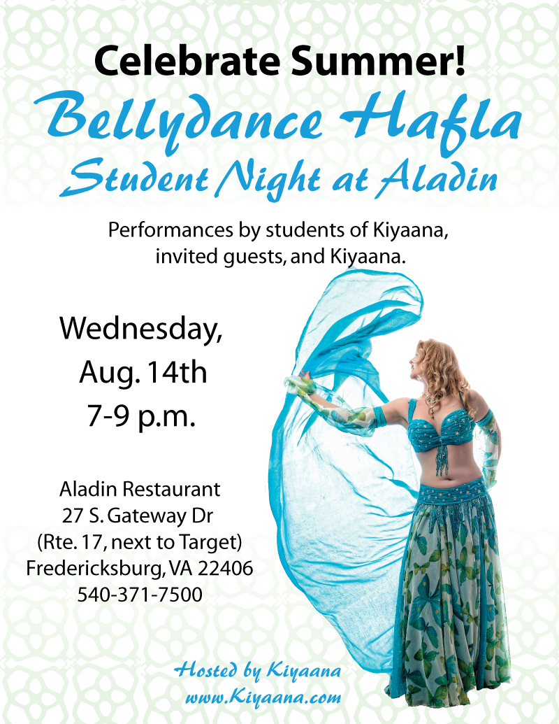 Bellydancing at it's Best! Kiyaana's Student Hafla at Aladin in Fredericksburg, Virginia.