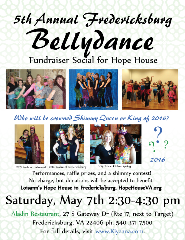 Bellydance Party in Fredericksburg for Hope House