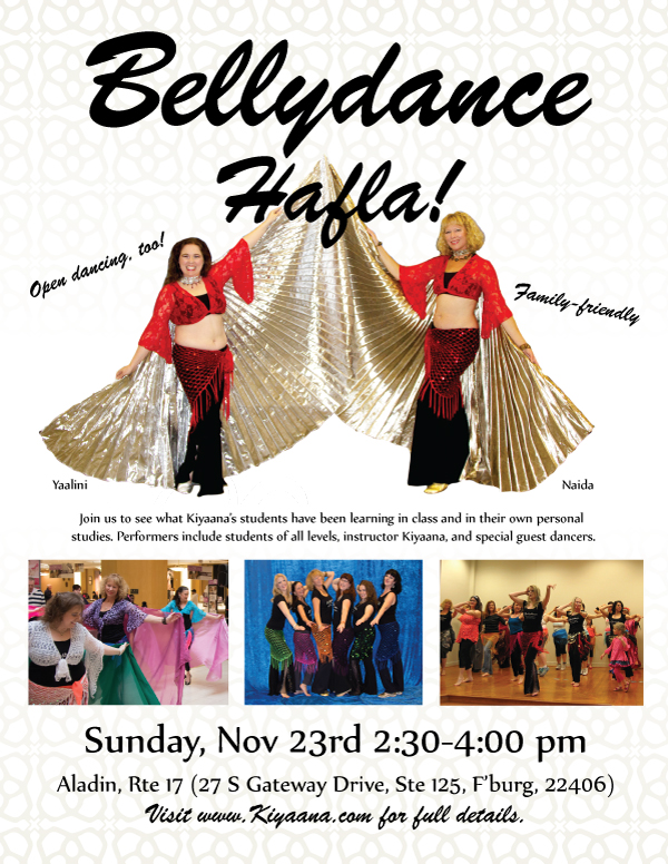Kiyaana's bellydance students perform Aug 23, 2014 in Fredericksburg