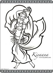 Kiyaana the Belly Dancer Coloring Page